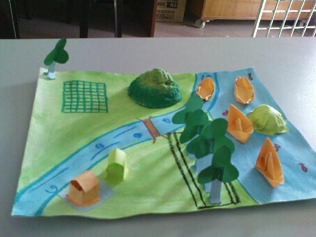 Kumpulan akan mempamerkan model bentuk muka bumi kumpulan mereka