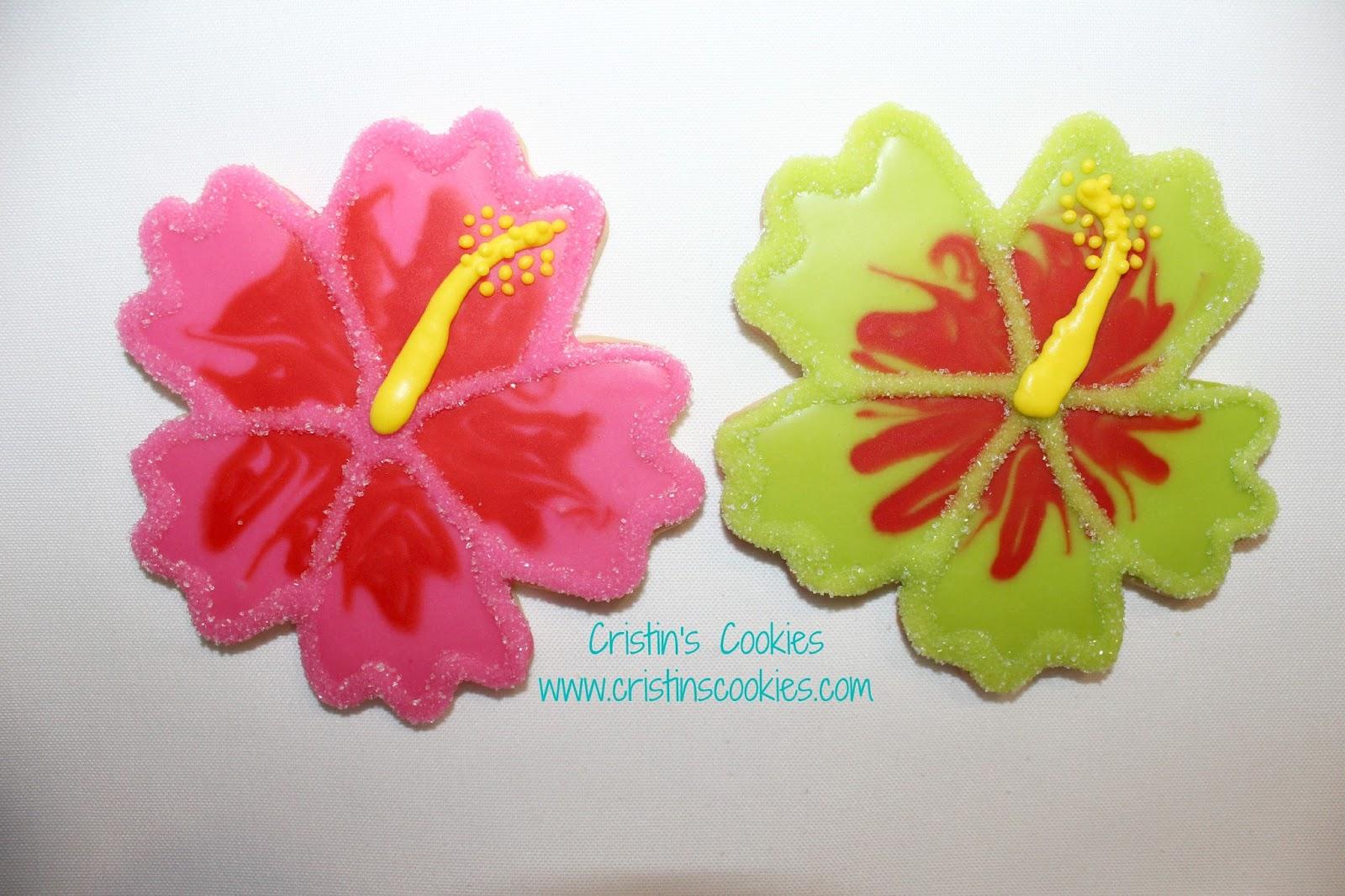 Cristins cookies hibiscus hula girls and free printable cookie cristins cookies hibiscus hula girls and free printable cookie tags too izmirmasajfo