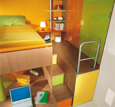 Ideas de dise o de dormitorios para ni os con mucho color for Diseno de cuartos pequenos para ninos