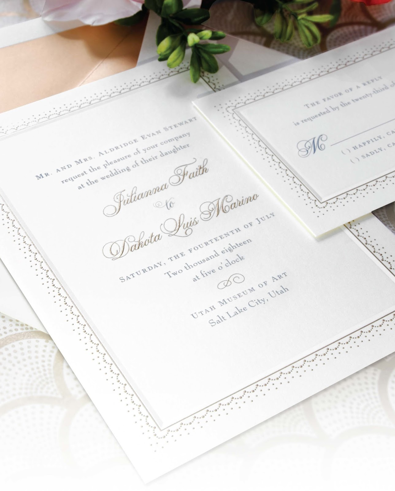 Wedding Invitation Trend Watch Vintage Lace And Metallics Our New William Arthur