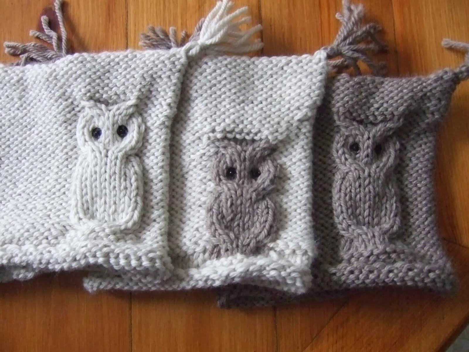 Mis labores gorro con buho - Puntos de agujas de lana ...