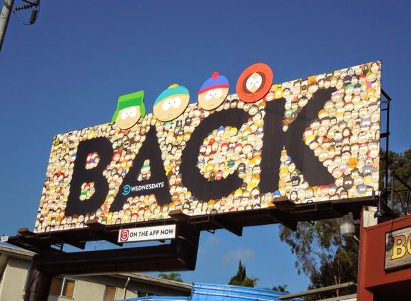 South Park season 18 Back special installation billboard