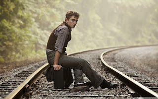 free hd images of robert pattinson on rail track for laptop