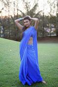 Neelam Upadhyay pics in Blue saree-thumbnail-18