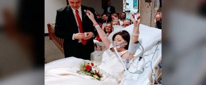 Παντρεύτηκε στο νοσοκομείο τον έρωτα της ζωής της 18 ώρες πριν πεθάνει