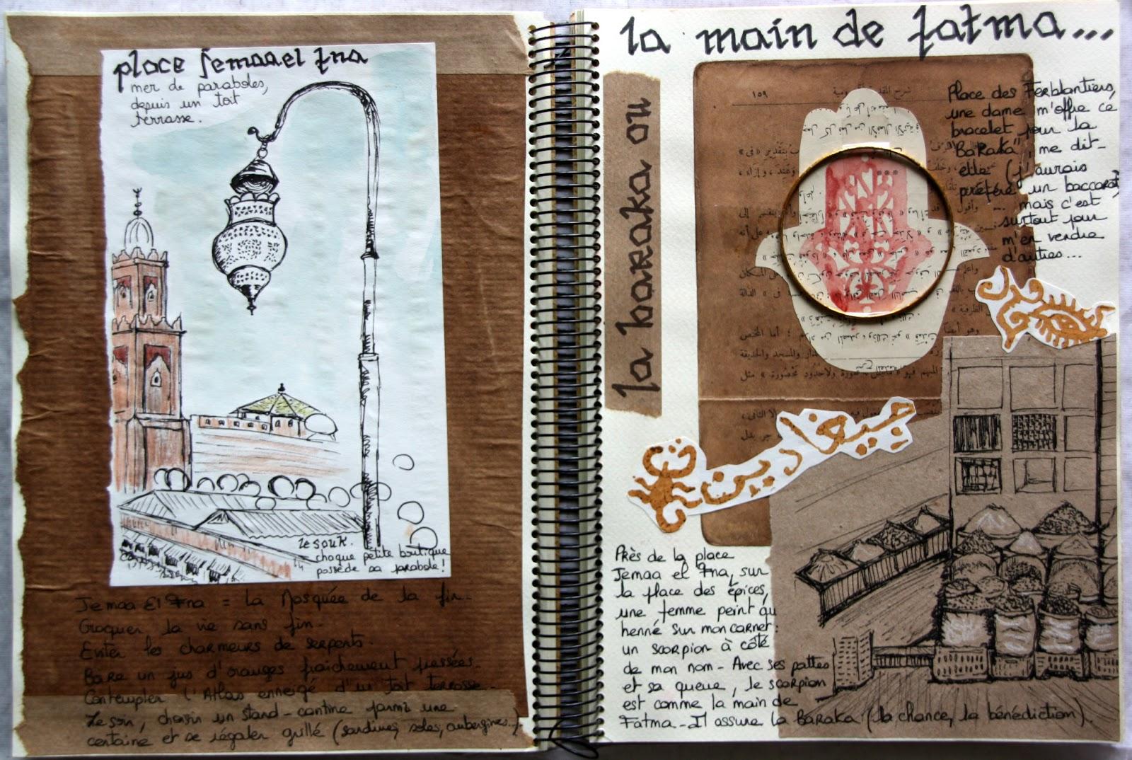 farf 39 art portraits carnets de voyage carnet de voyage maroc encore. Black Bedroom Furniture Sets. Home Design Ideas