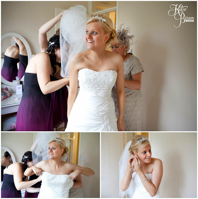 bride getting ready, wedding shoes, wedding dress, crook hall durham wedding, st michaels houghton le spring wedding, crook hall and gardens, durham wedding venue, katie byram photography, durham wedding photographer, newcastle wedding photographer, relaxed weddings durham, purple wedding, calla lillies