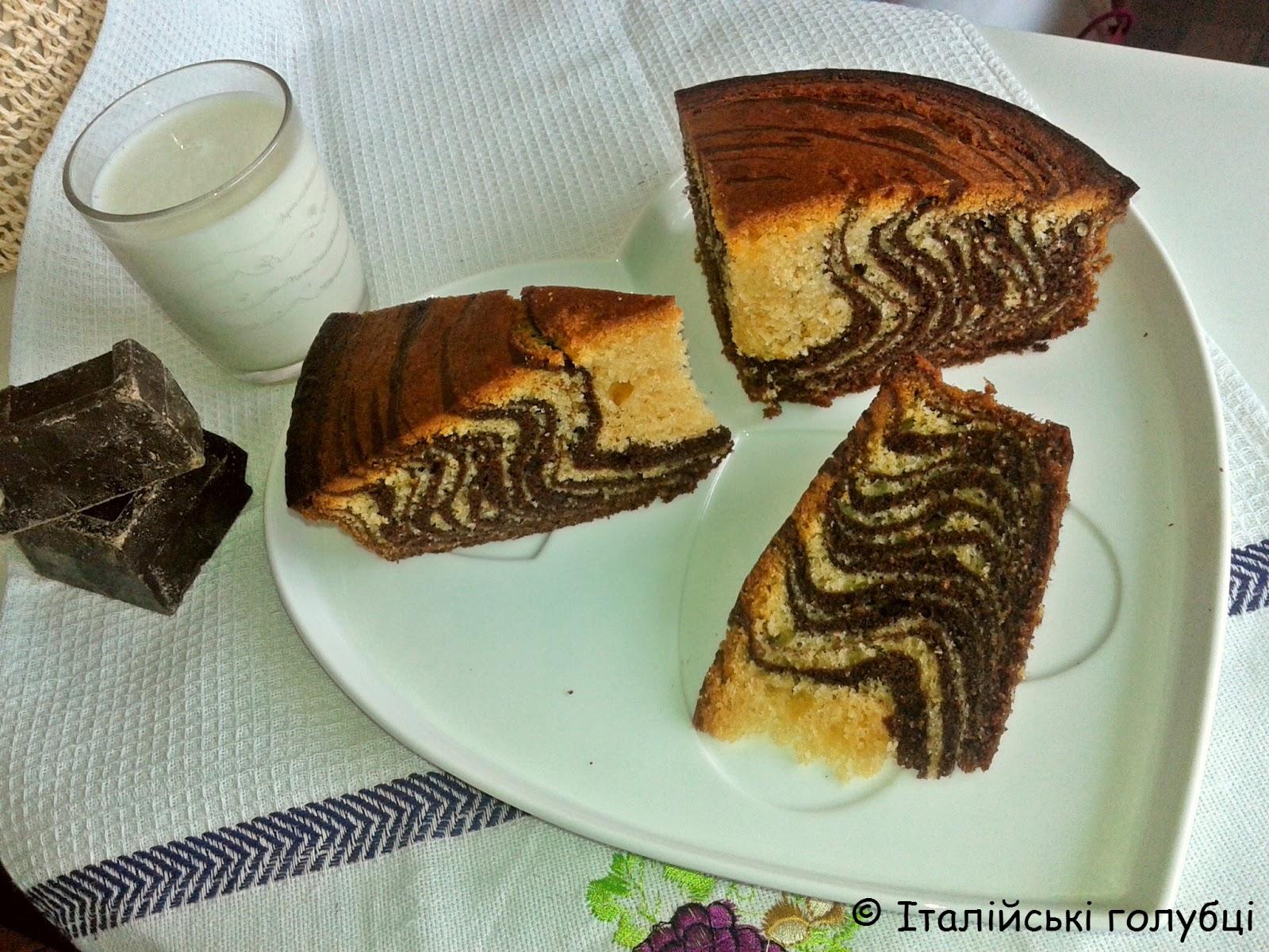Кекс зебра рецепт пошагово в домашних условиях в духовке