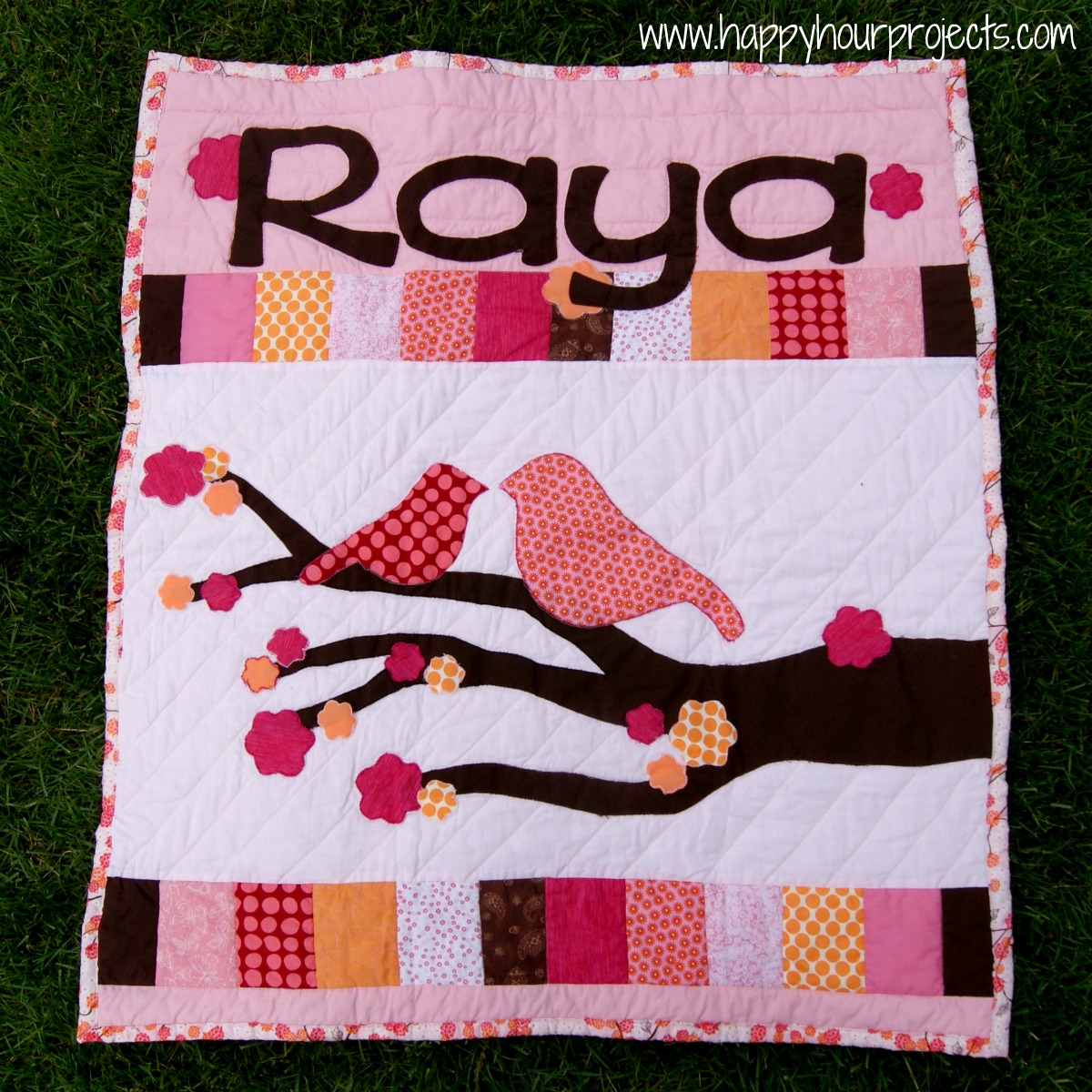 Raya's Name Quilt - Happy Hour Projects : name quilt - Adamdwight.com