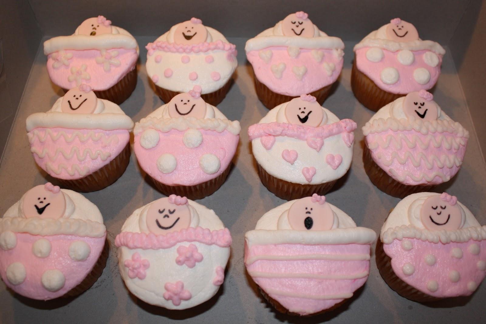 Girl Baby Shower Cupcakes Images ~ Kake baby girl shower cupcakes