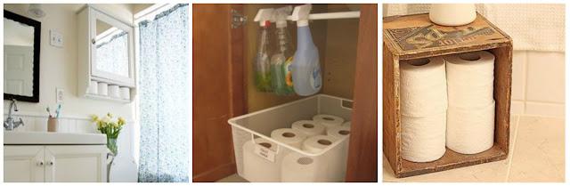 Organizar o banheiro | Organizar papel higiênico