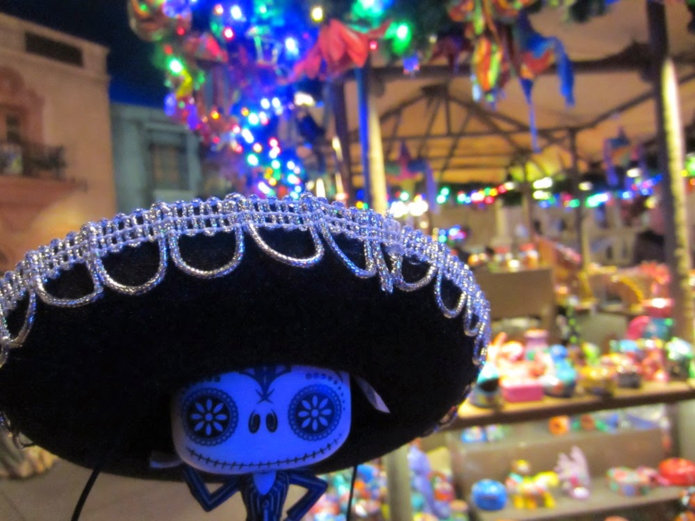 Jack Skellington's Walt Disney World Trip Selfies Epcot Mexico Sombrero