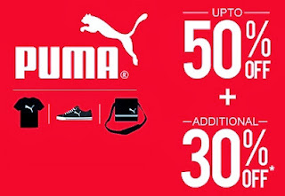 Flat 30% Additional Off on Puma Products already reduced upto 50% at Jabong