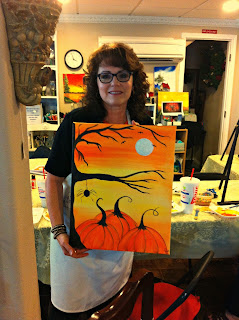 Halloween, easy Halloween painting, painting party