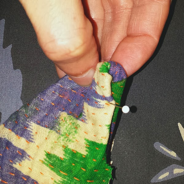 Sewing Kantha Fabric Collars with Santina Cessor-8