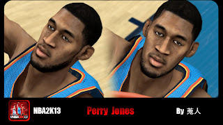 NBA 2K13 Perry Jones III Cyber Face Patch