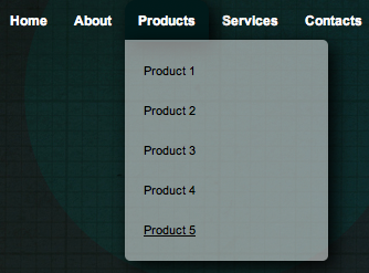 Simple Drop Down Menu With CSS3