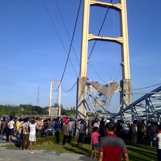 jembatan mahakam runtuh