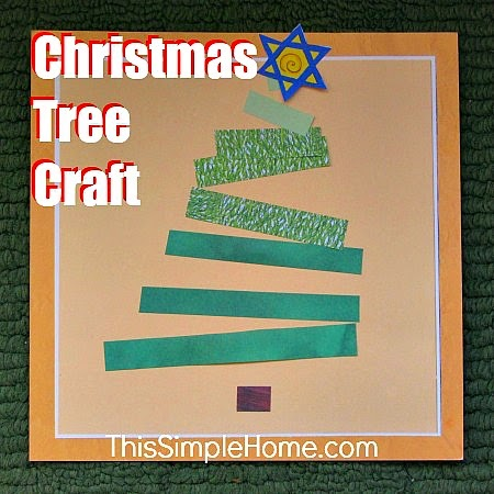 paper strip Christmas tree craft