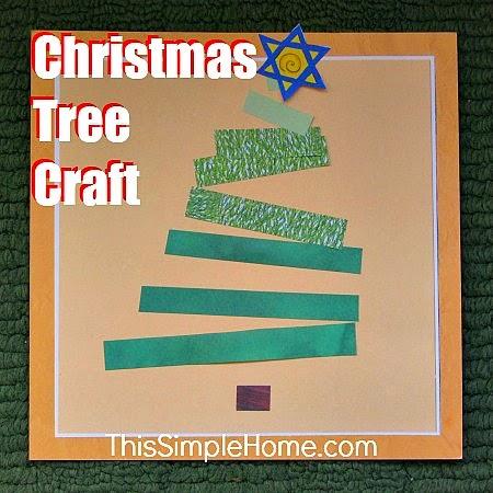 paper strip Christmas tree craft