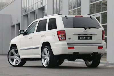 white jeep grand cheroke - jeep tuning - startech grand cherokee