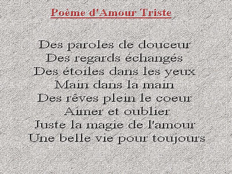 Beliebt triste poèmes ~ Poème et Textes d'amour GT56