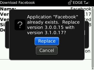 facebook for blackberry 3.1.0.17