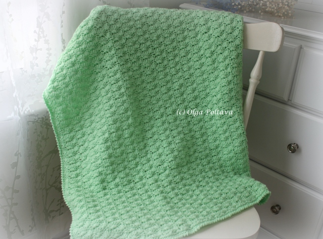 Crochet Patterns Loops And Thread Yarn : Lacy Crochet: Shells Baby Blanket with Three Flowers, My Free Pattern