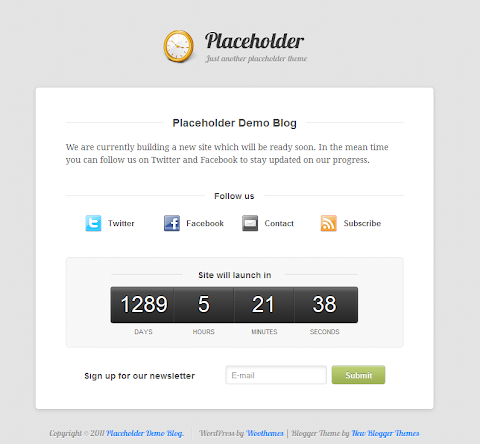 Placeholder Blogger Theme
