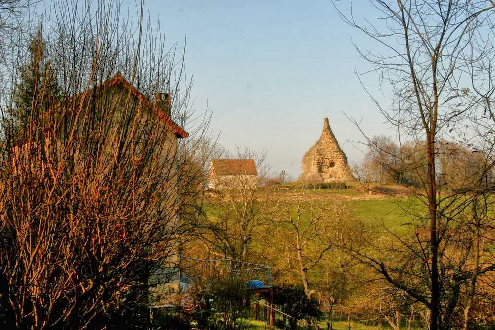 Romeinse piramide in Autun in Bourgondië, Frankrijk