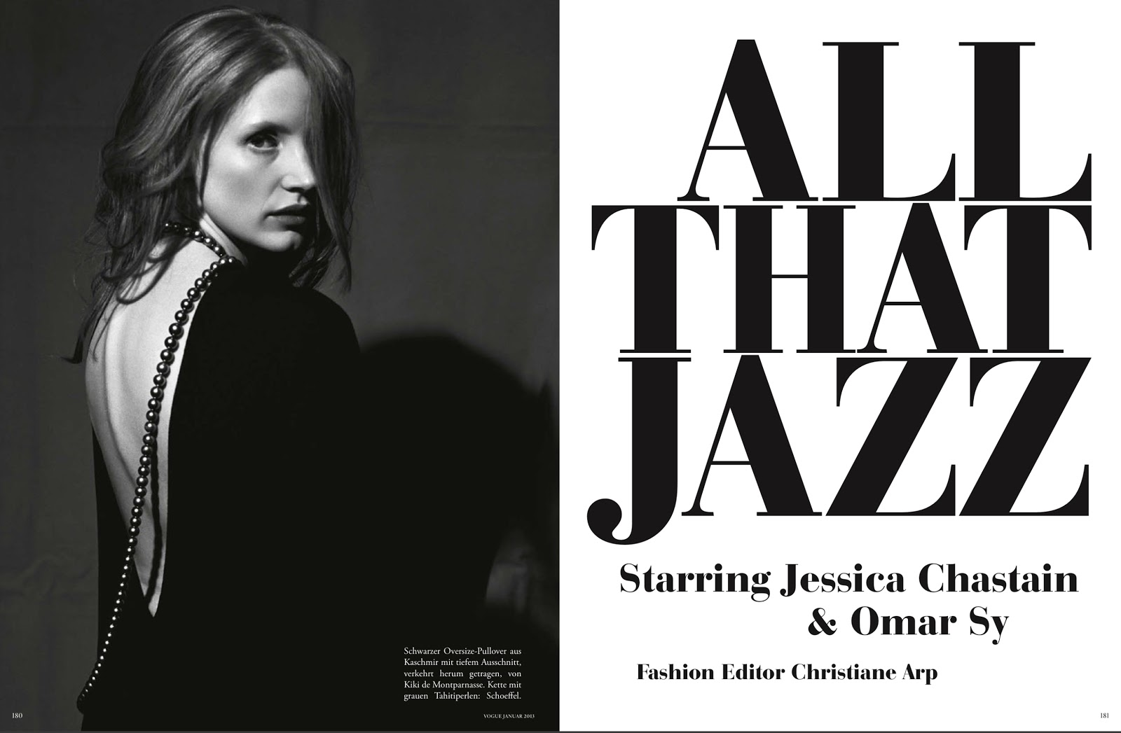 Jessica Chastain & Omar Sy Make Sweet Music, Lensed by