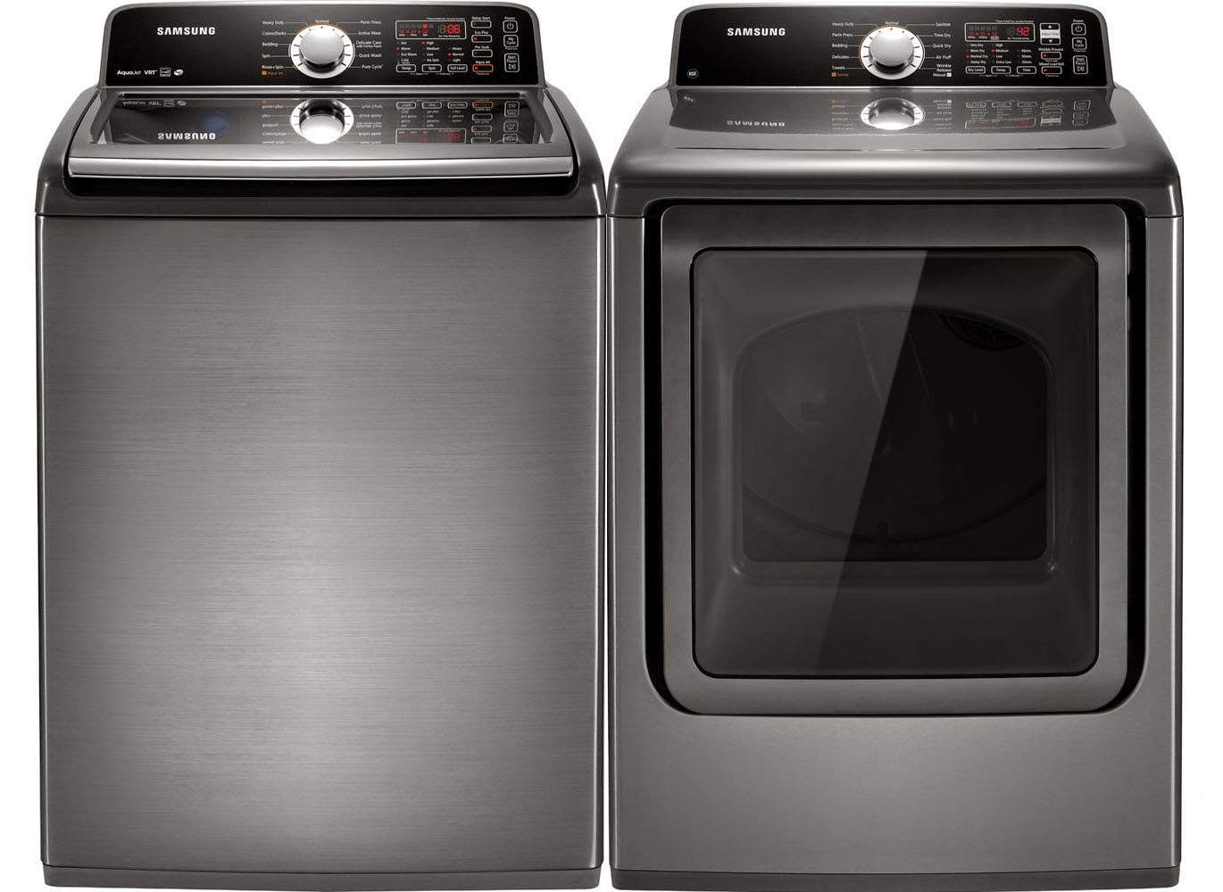 samsung platinum king size top load electric laundry sets