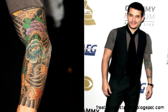 Tattoo on the arm of John Mayer