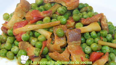 Receta de guisantes a la Catalana
