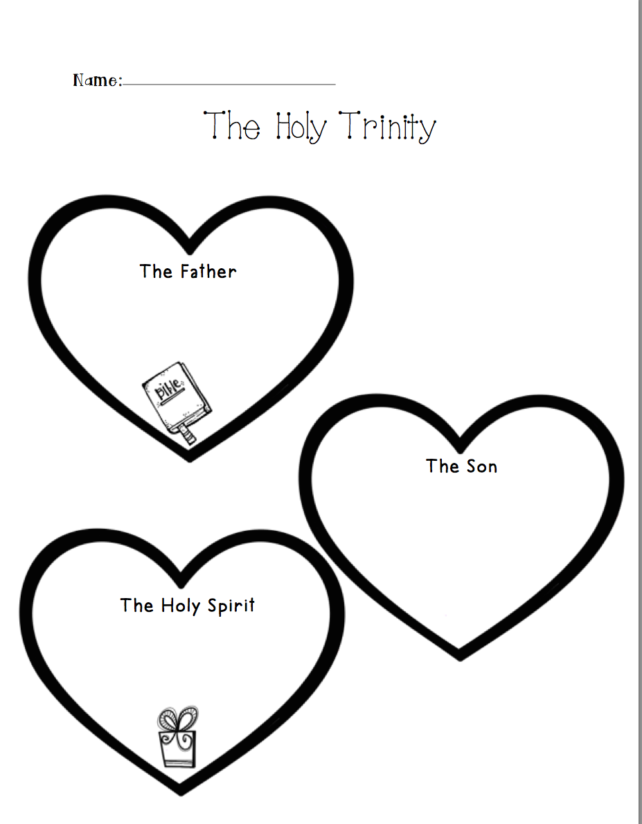 Holy Trinity Sunday Coloring Pages Pictures to Pin on Pinterest