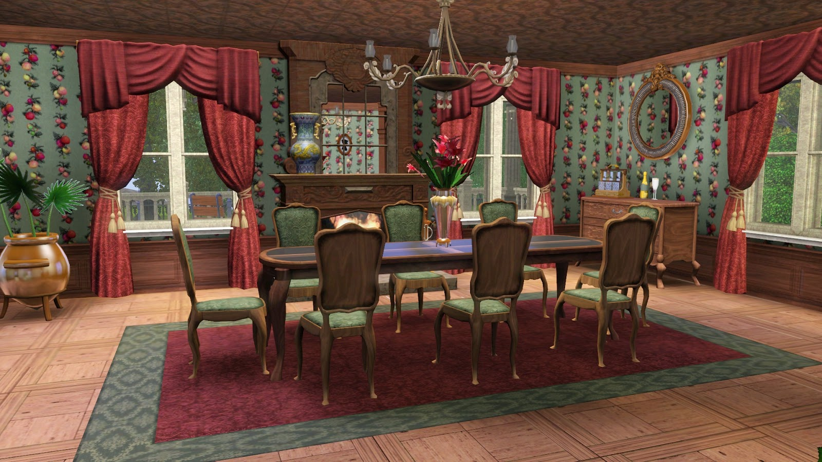 Simply ruthless a second empire adventure for Sims 3 dining room ideas