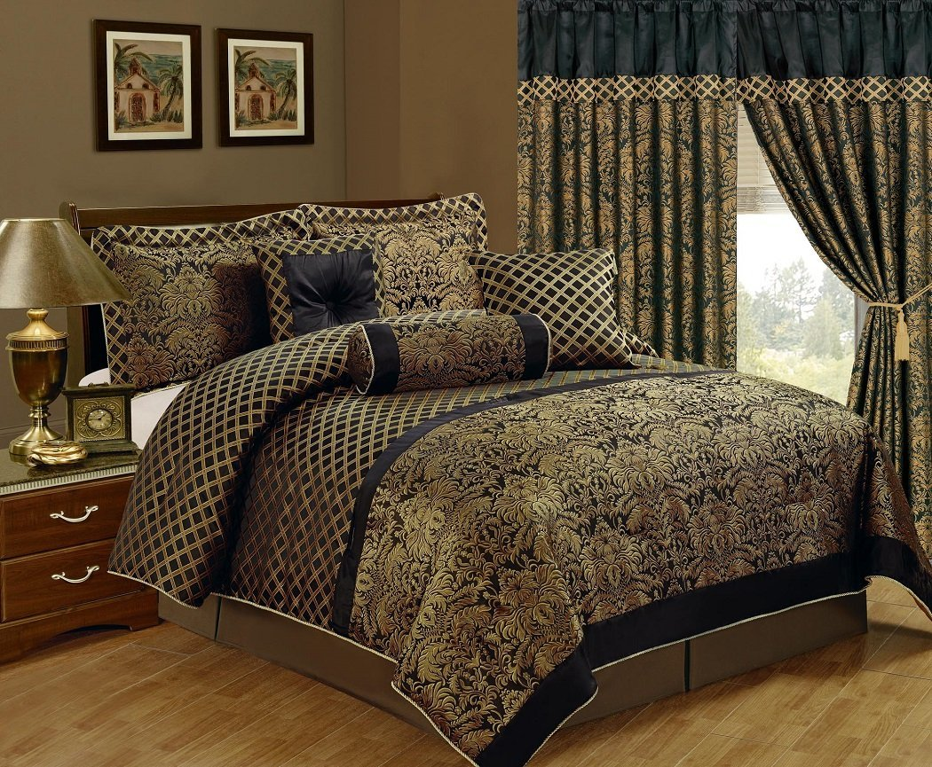Black Queen Quilt Bed Set