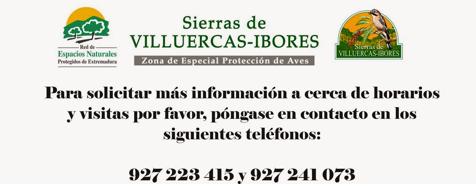 """Contacto Centro ZEPA """"Sierra de Las Villuercas y Valle del Guadarranque"""""""