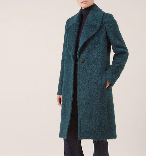 hobbs ennis coat, hobbs green wool coat, hobbs hairy coat, hobbs teal coat,