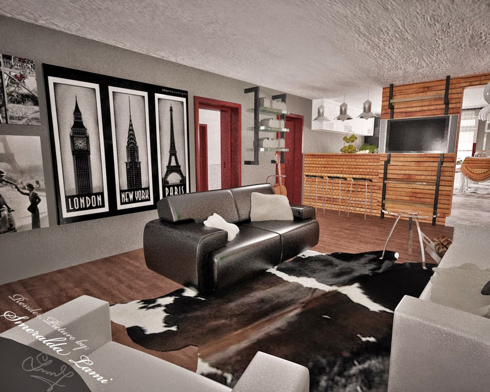Modern Industrial Living Room : Industrial Modern Living Room