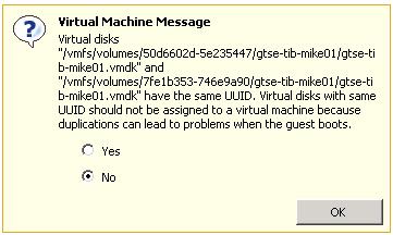 esxi duplicate machine