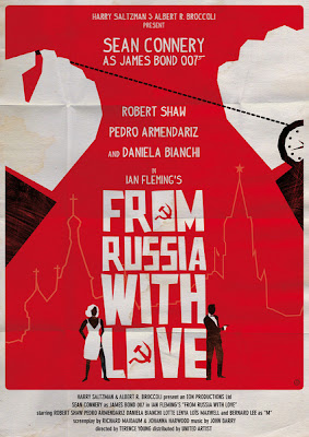 okokno From Russia with Love James Bond Sean Connery Movie Poster