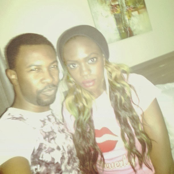 Rugged Baba Gets a Kiss from Beverly Osu and Charly Owoh During  Birtday