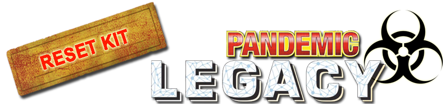 Pandemic legacy reset kit Français