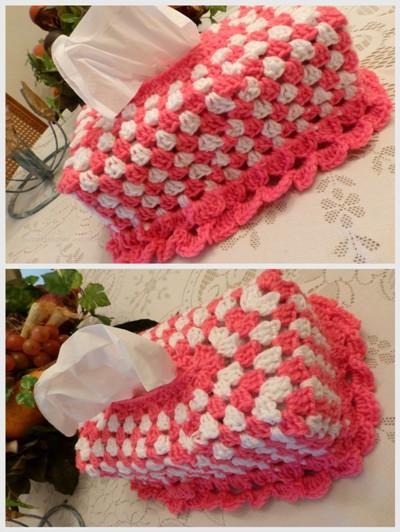 Crochet Stitch Keeper : BULLION STITCHES AND MORE: CROCHET TISSUE BOX HOLDER