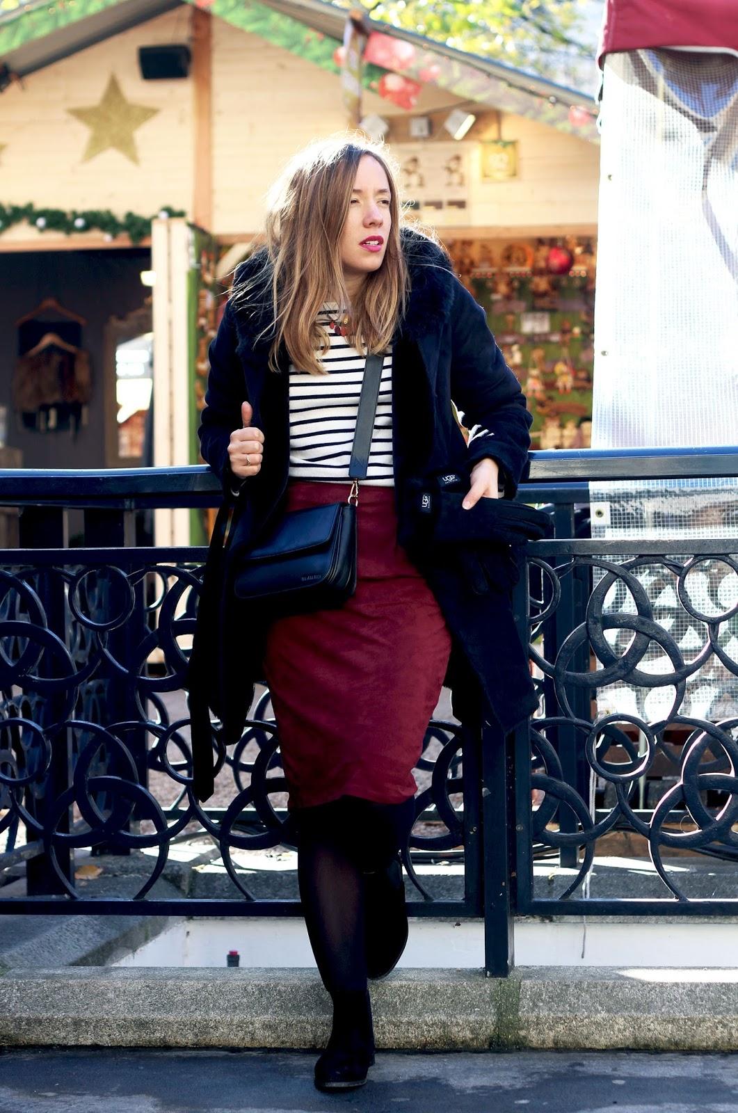 Jupe velours mi-longue New Look