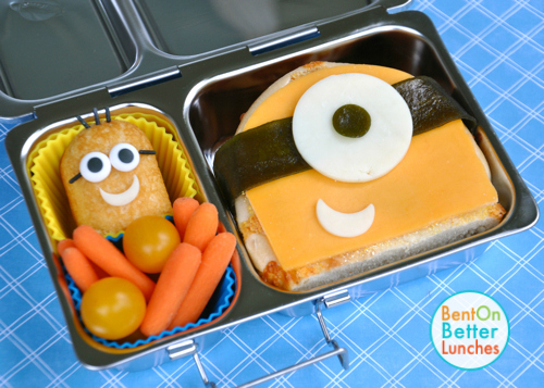 Minion Sandwich Bento with Twinkie in PlanetBox