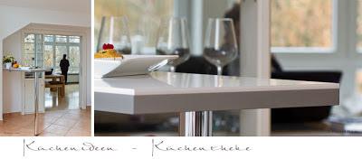 Stehtisch, Küchentheke 3-D-Sichtkante