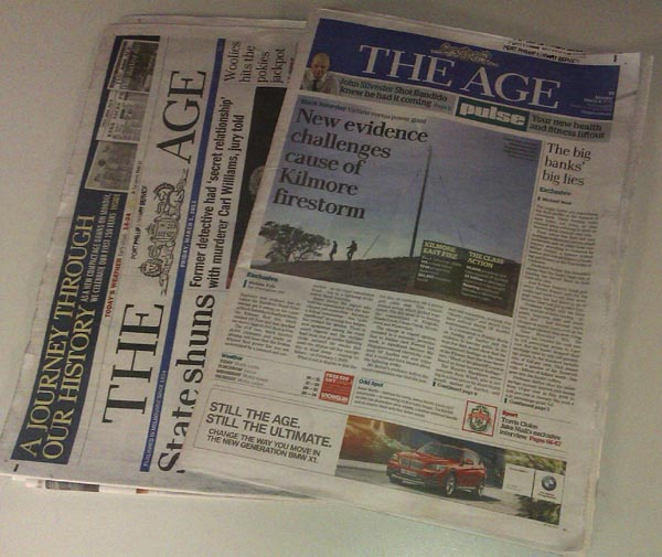 Fairfax Kills Broadsheet For Compact Tabloid Size Newspapers
