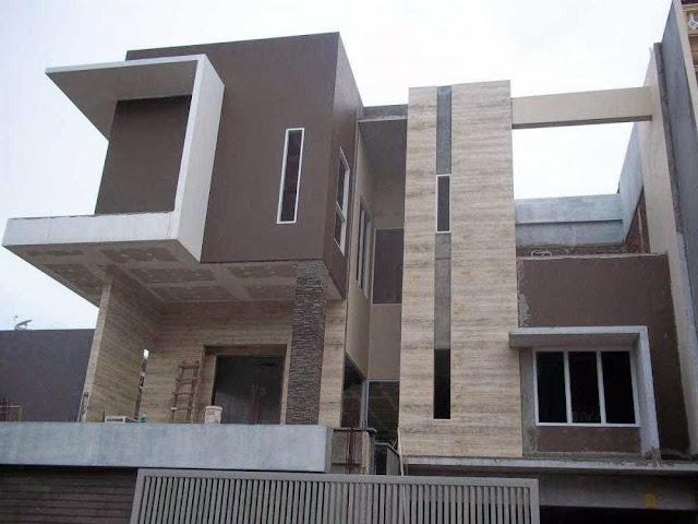 Foto rumah modern futuristik